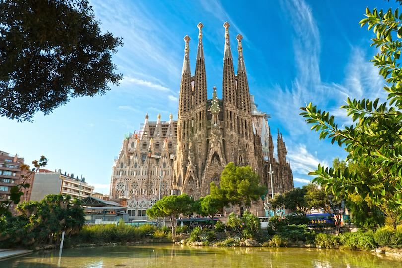BARCELONA, SPAIN - Sagrada Fmilia