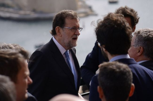 Tump and Spanish prime minister Mariano rajoy