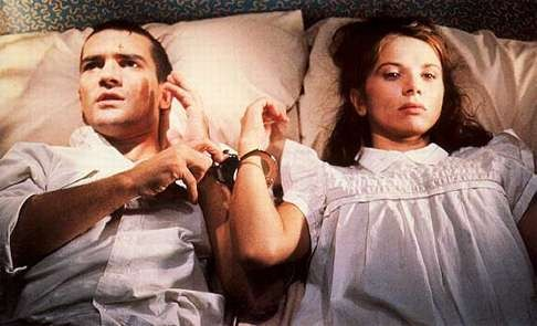 Antonio Banderas and Victoria Abril in a still from Tie Me Up