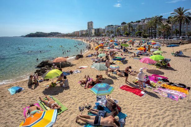 Spain-Catalonia-Costa-Brava-Coast-Lloret-de-Mar-City-Beach